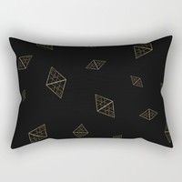 Golden Crystals Rectangular Pillow by All Is One
