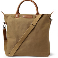 WANT Les Essentiels de la Vie O'Hare Leather-Trimmed Organic Cotton-Canvas Tote Bag | MR PORTER