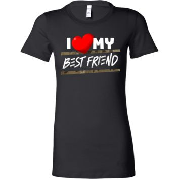 I Love My Best Friend Heart Family Fun and Cute Bella Shirt