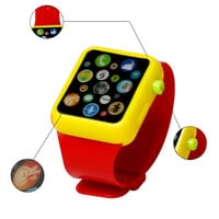 Kids Children Smart Watch Early Education 3D Touch Screen Music  Smart Watch Learning Machine ABS Wristwatch Toy