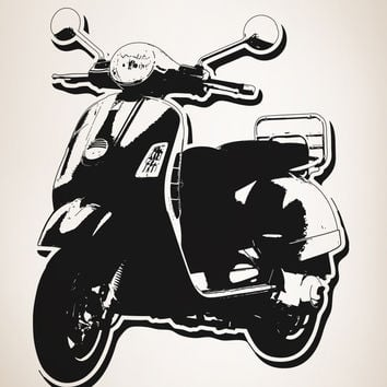 Vinyl Wall Decal Sticker 70's Inspired Scooter #OS_AA147