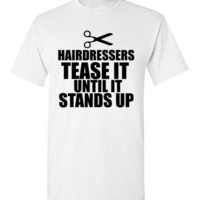 Hairdressers Tease It Until It Stands Up