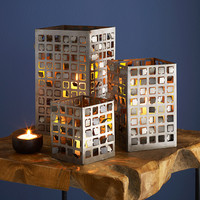 Ventana Lanterns | luminaries, hurricane candle holders