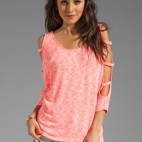WOODLEIGH Kennedy Top in Neon Coral from REVOLVEclothing.com