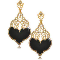 LK DESIGNS Black Harem Small Earrings - Polyvore