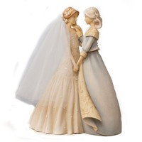 Enesco Foundations Mother and Bride Figurine, 9-Inch