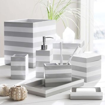 Cabana Grey Bath Accessories
