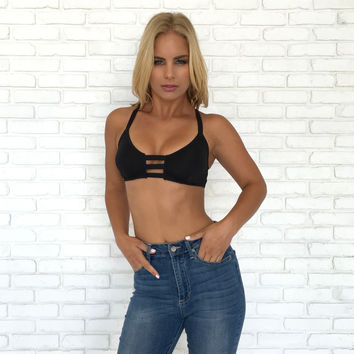 Rowley Edge Bralette In Black