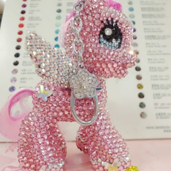 BLING My little pony BABY Pink Charm Handmade w/ by Crystaljam