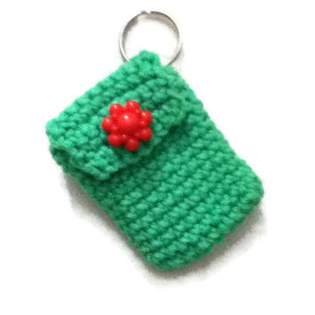 Keychain Pouch - Neon Lime Green - Perfect way to give money to a teen