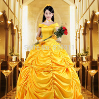 Halloween costumes for women adult Princess Belle yellow dress Beauty and the Beast  Character Carnival cosplay costumes
