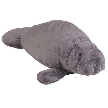 "14"" Manatee Stuffed Animal Plush Floppy Zoo Species Collection"