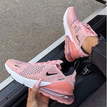 Nike Air Max 270 Stylish Women Personality Transparent Air Cushion Running Sport Shoe Sneakers shoes I