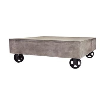 Jigger Vintage Industrial Look Coffee Table Waxed Concrete / Rust