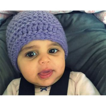 Handmade Lavender Purple Child's Hat | {domain}