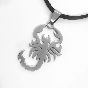 ON SALE - Scorpion Stainless Steel Pendant Necklace