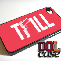 TRILL with Gun In Pink iPhone Case Cover|iPhone 4s|iPhone 5s|iPhone 5c|iPhone 6|iPhone 6 Plus|Free Shipping| Delta 127