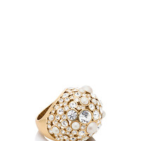 Kate Spade Pick A Pearl Cocktail Ring Cream Multi