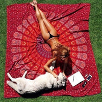 Square Mandala tapestry Hippie Indian Bohemian Tapestries Scarf Wrap shawl Beach Cover Up Hanging Wall Towel Throw blanket Mat