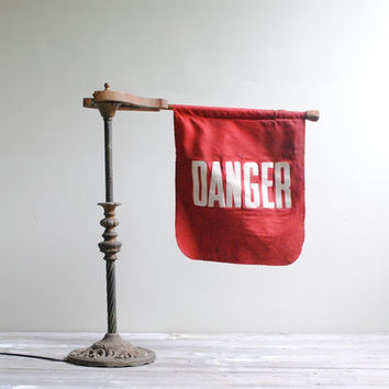Vintage Danger Flag