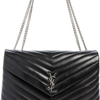 Saint Laurent Large LouLou Matelassé Leather Pouch | Nordstrom