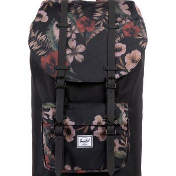 HERSCHEL SUPPLY CO LITTLE AMERICA BACKPACK BLACK/HAWAIIAN CAMO