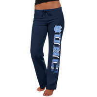 North Carolina Tar Heels :UNC: Ladies Frosh Fleece Sweatpants - Navy Blue