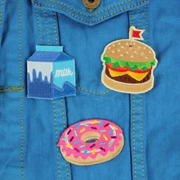 Food Fight Embroidered Sticker Pack