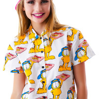 Lazy Oaf x Garfield Pizza Cat Shirt Multi