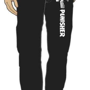 Marvel Comics Punisher Logo Black Sleep Lounge Pants