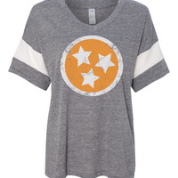 Tennessee Flag Orange Powder Puff Tee