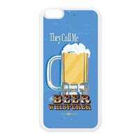 Sassy - The Beer Whisperer 10828 White Silicon Rubber Case for iPhone 6 Plus by Sassy Slang