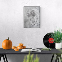 Pet Portrait: Welsh Afghan Hound - original art - pet lover gift - pet memorial - custom dog portrait - pet painting - personalized pet