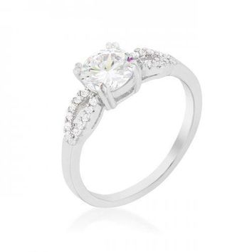Round Solitaire Engagement Ring (size: 10) (pack of 1 ea)