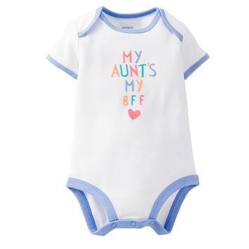 Carter's ''My Aunt's My Bff'' Heart Bodysuit - Baby Girl, Size: