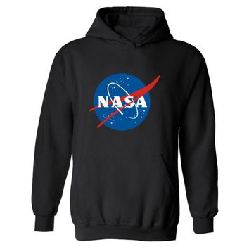 Streetwear Hip Hop Black Hooded NASA Hoodie Hoody The Martian Matt Damon Mens Hoodies and Sweatshirts 4XL Plus Size