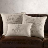 Vintage French Linen Pillow Covers | Pillows | Restoration Hardware