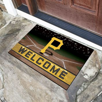 "MLB - Pittsburgh Pirates 18""x30"" Crumb RubberDoor Mat"