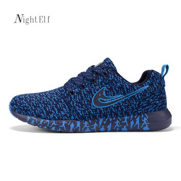 Night Elf men running shoes high quality sport shoes men air mesh trainers breathable 2016 jogging walking sneakers plus size 47
