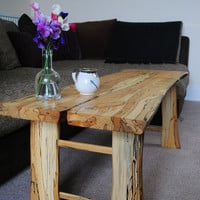 Coffee Table - symmetrical spalted timber