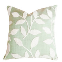 Luxury Decorative Pillows in Cream and Seamist by PillowThrowDecor