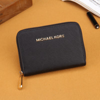 Michael Kors MK Fashion Women Leather Zipper Wallet Purse