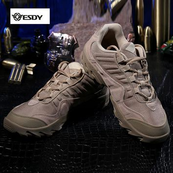 Outdoor Desert US Tactical Sneakers 1200D Nylon chamoi leather Men sport Hiking walking camping Shoes Boots Military sapatilhas