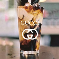 GUCCI Glass Cup Fashion Transparent watermark Cup White Logo