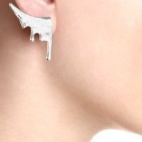 Silver Plated Droplet Earrings | Bjørg | Avenue32