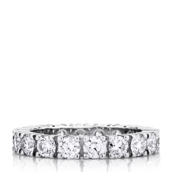De Beers Platinum and Diamond Classic Eternity Band (3mm) | Harrods.com