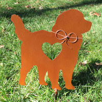 Bernese Mountain Dog Metal Garden Stake - Metal Yard Art - Metal Garden Art - Pet Memorial