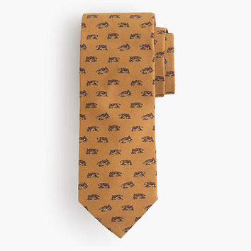 J.Crew Mens Drake's English Silk-Wool Tie In Fox Print