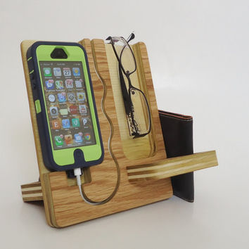 Wood IPhone 5 Dock by undulatingcontours on Etsy