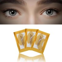 Newest!!! 24k Gold Eye Collagen Aging Wrinkle Under Crystal Gel Patch Anti Mask Prevent & Refine Aging 2017 Anne